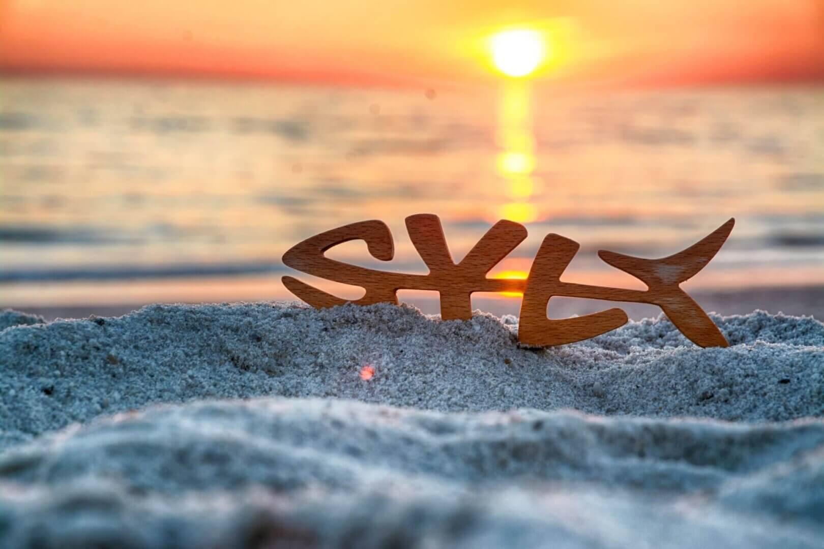 Syltfisch im Sand