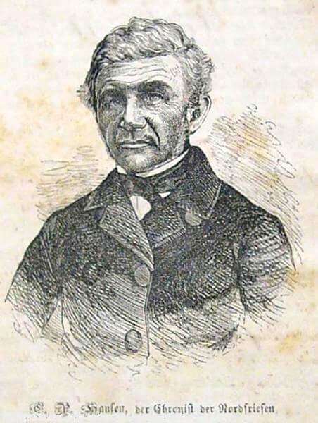 Christian Peter Hansen, Bleistiftporträt.