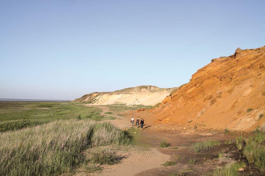 Das Morsum Kliff erzählt ein Stück Erdgeschichte.